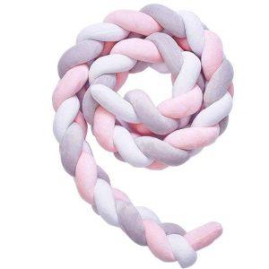 Braided-Cot-Bumper-Pink