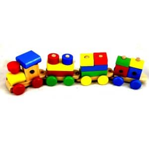 Wooden-Block-Train-Set