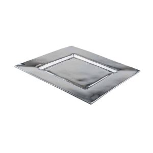 Si-Como-No-hand-crafted-Mexican-pewter-square-platter-smooth