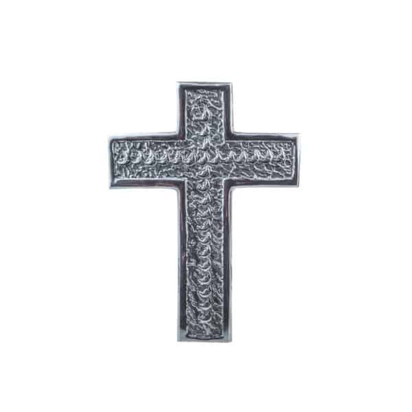 Si-Como-No-hand-crafted-Mexican-pewter-wall-cross-moon-design
