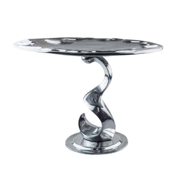 Si-Como-No-Hand-crafted-mexican-pewter-spiral- cake-stand