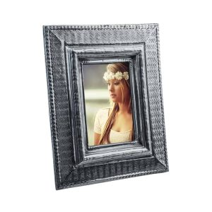 Si-Como-No-hand-crafted-Mexican-pewter-textile-design-frame