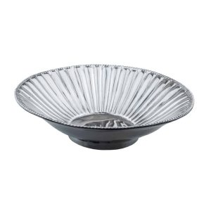 Si-Como-No-hand-crafted-Mexican-pewter-pearls-and-flutes-round-bowl-large
