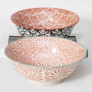 patterned-porcelain-large-bowl- set-of-2-20.5- cm-orange