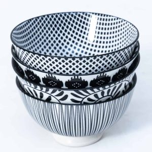 patterned-porcelain-small-bowl- set-of-4-12cm-black