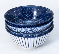 patterned-porcelain-medium-bowl- set-of-4-16cm-blue