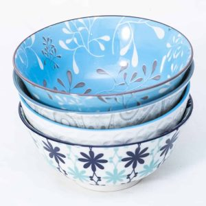 patterned-porcelain-medium-bowl- set-of-4-16cm-turquoise