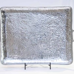Si-Como-No-hand-crafted-Mexican-pewter-hammered-serving -tray-Xlarge