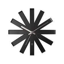 Umbra- Ribbon- Black-Wall-Clock-30-cm