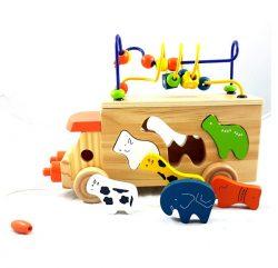 Wooden-Animal-Bead-Bus