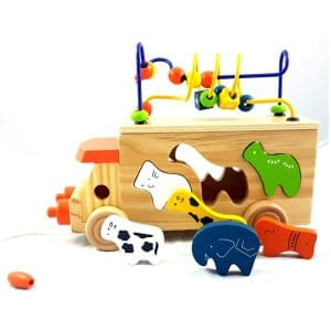 Wooden-Animal-Bead-Bus