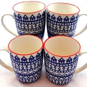 Blue-Geometric-Mugs