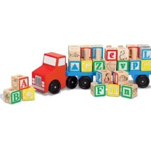 wooden-alphabet- blocks -truck