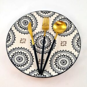 Cutlery-Set-Retro-Modern-Black-and-Gold