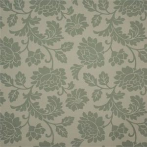 Tablecloth Green Floral on Eggshell