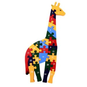Toddler-Puzzle-Giraffe-Wood - 26-Piece -1-26
