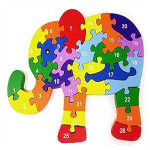 Toddler-Puzzle-Wooden-Elephant-26- Piece-1-26