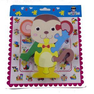 Puzzle-Wooden-Monkey- 8- Piece