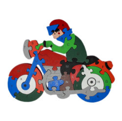 Toddler-Puzzle-Wooden-Motorbike- 26- Piece-A-Z