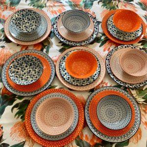 Dinner-Set-Blue -And-Orange