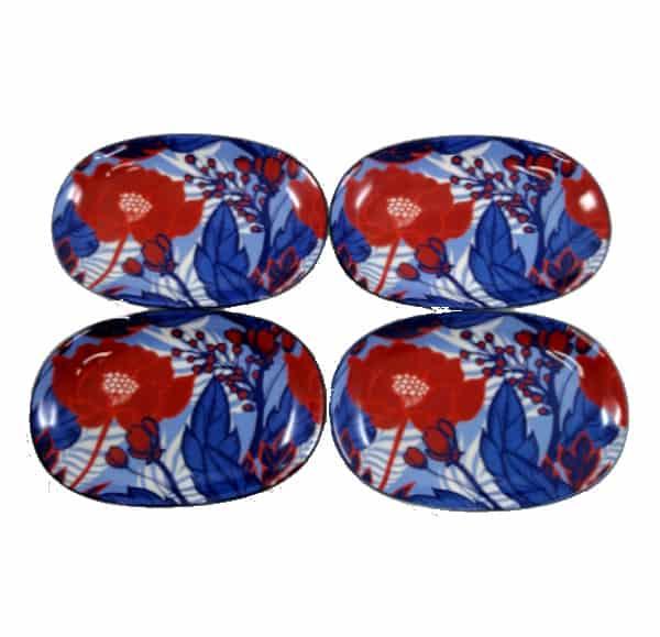 Art-Platter - Red-Flower