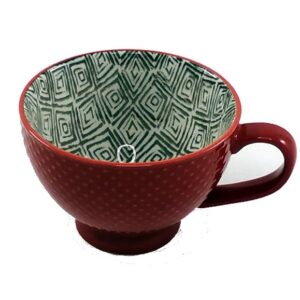 Porcelain-Art-Mug-Red