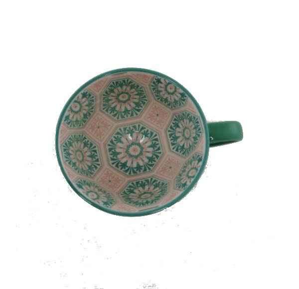 Porcelain-Art-Mug-Teal-Pattern