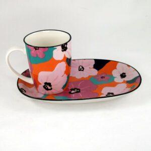 Art-Mug-Platter-Poppy-Pink