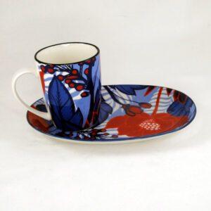 Art-Mug-Platter-Red-Flower