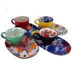 Mug and Platter Set - Mix of 4