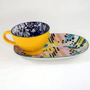 Mug-Platter-Yellow