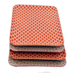 Square-Dinner-Plate-Orange-Mix