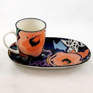 Art-Mug-Platter-Pink-Flower