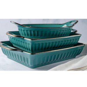 Fluted-Bakeware-Set-Teal-3-Piece