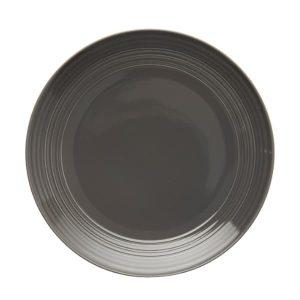 Jenna Clifford - Embossed Lines- Dark Grey- Dinner Plate -Set of 4