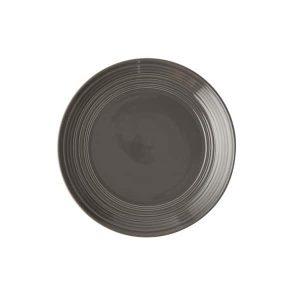 Jenna Clifford - Embossed Lines Dark Grey- Side Plate - Set of 4
