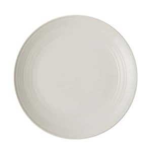 Jenna Clifford - Embossed Lines Off-White- Dinner Plate- Set of 4