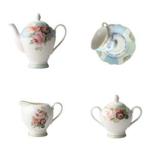 Jenna Clifford - Italian Rose - Tea Set