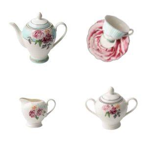 Jenna Clifford - Wavy Rose - Tea Set