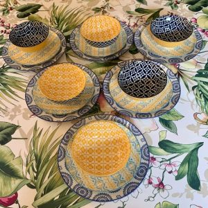 Dinner-Set-Blue-And-Yellow