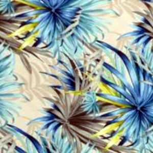 Tablecloth Round- In Bloom Blue