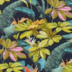 Tablecloth-Yellow Leaf on Blue