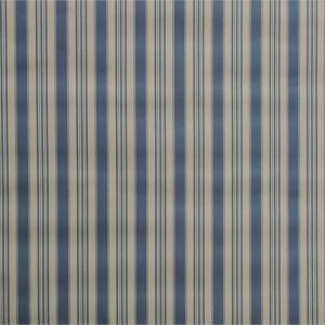 Tablecloth Blue on Eggshell Stripe