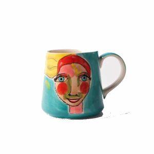 Olivia-Mug-Painted Lady - Set of 4